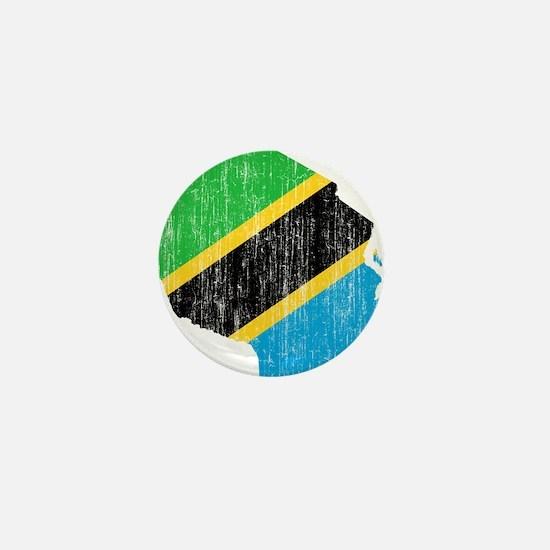 Tanzania Flag And Map Mini Button