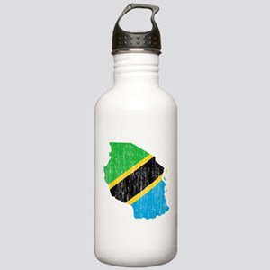 Tanzania Flag And Map Stainless Water Bottle 1.0L