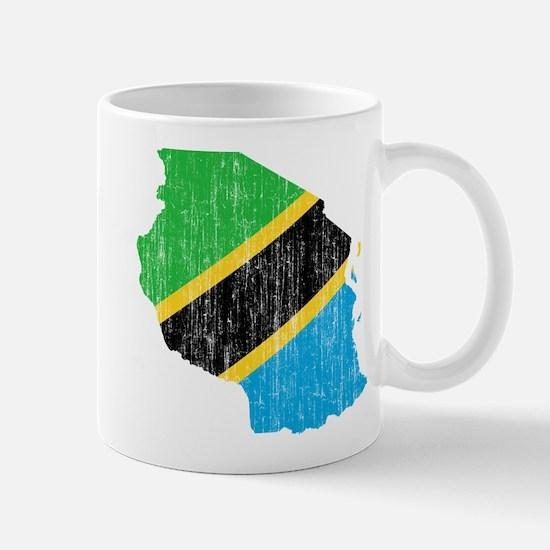 Tanzania Flag And Map Mug
