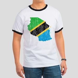 Tanzania Flag And Map Ringer T