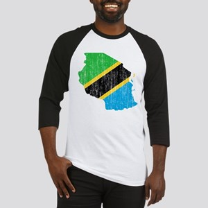 Tanzania Flag And Map Baseball Jersey