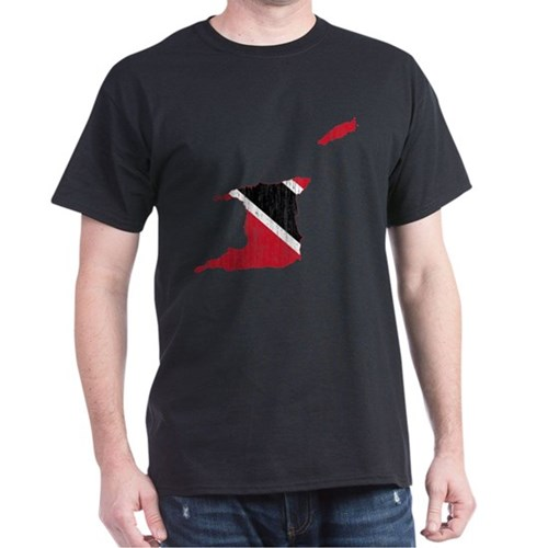 Trinidad And Tobago Flag And Map T-Shirt