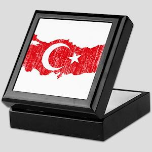 Turkey Flag And Map Keepsake Box
