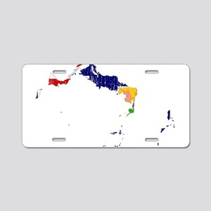 Turks And Caicos Islands Flag And Map Aluminum Lic