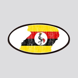 Uganda Flag And Map Patches