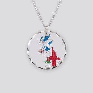 United Kingdom Subdivisions Flag And Map Necklace
