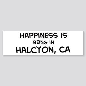 Halcyon - Happiness Bumper Sticker