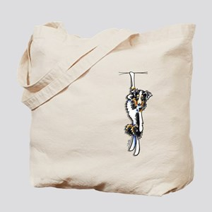 Clingy Australian Shepherd Tote Bag