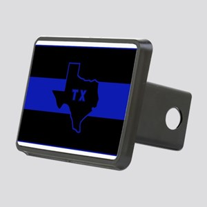 Thin Blue Line - Texas Rectangular Hitch Cover