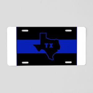 Thin Blue Line - Texas Aluminum License Plate
