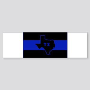 Thin Blue Line - Texas Sticker (Bumper)