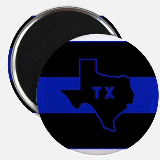 "Thin Blue Line - Texas 2.25"" Magnet (10 pack)"