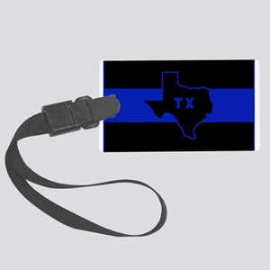 Thin Blue Line - Texas Large Luggage Tag