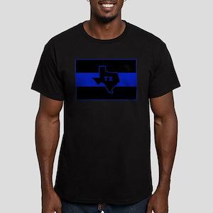 Thin Blue Line - Texas Men's Fitted T-Shirt (dark)