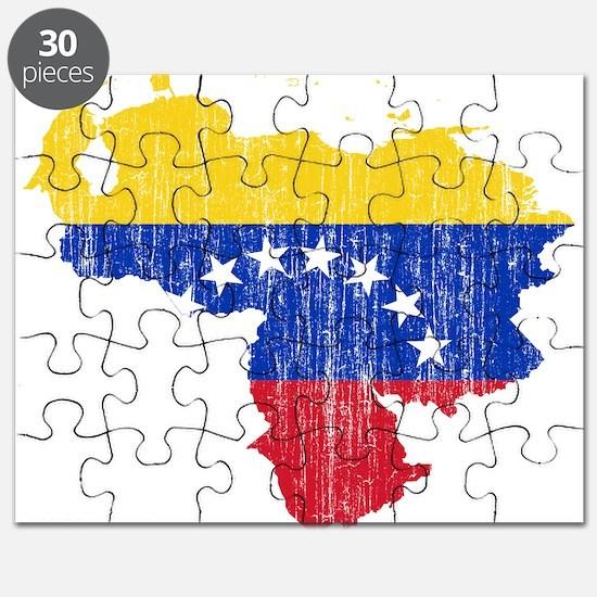 Venezuela Flag And Map Puzzle