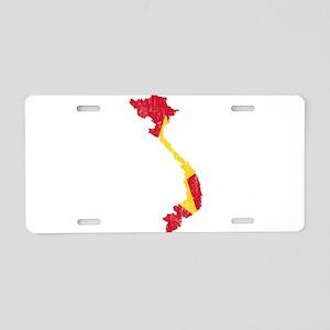 Vietnam Flag And Map Aluminum License Plate