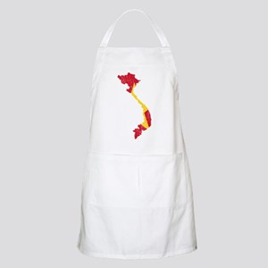 Vietnam Flag And Map Apron