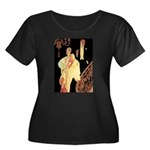Elegance Women's Plus Size Scoop Neck Dark T-Shirt