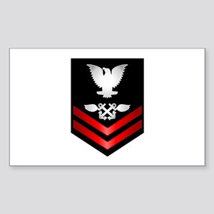 Navy PO2 Aviation Boatswain's Mate Sticker (Rectan