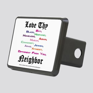 Love Thy Neighbor Rectangular Hitch Cover