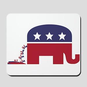 Elephant Pooing Donkey Mousepad