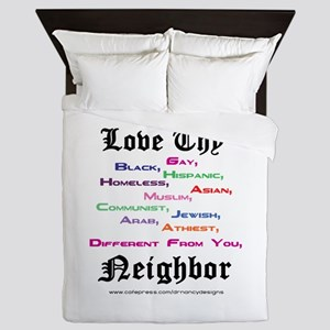 Love Thy Neighbor Queen Duvet