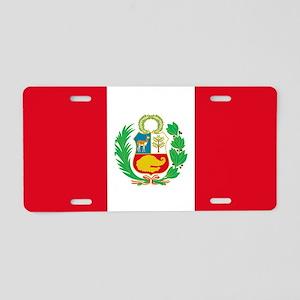 Flag of Peru Aluminum License Plate