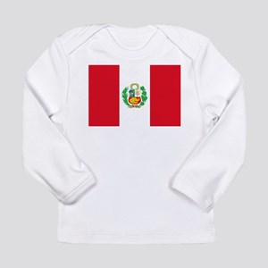 Flag of Peru Long Sleeve Infant T-Shirt