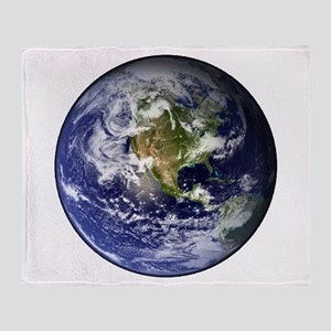 High Resolution EARTH From Space Throw Blanket