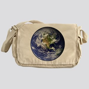 High Resolution EARTH From Space Messenger Bag