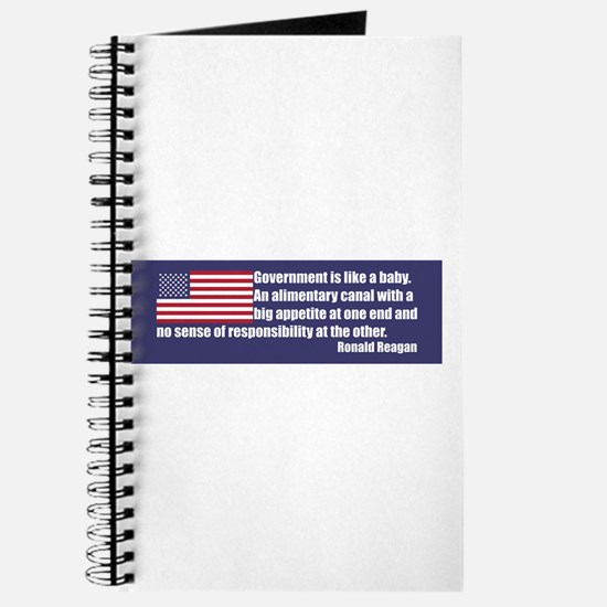 Ronald Reagan Government Like a Baby Journal