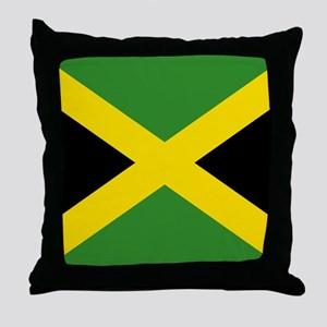 Jamaican Flag Throw Pillow