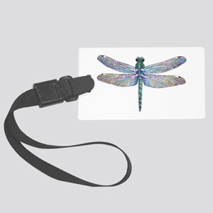 night dragonfly Large Luggage Tag