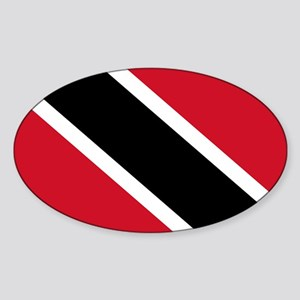 Trinidad and Tobago Flag Sticker (Oval)