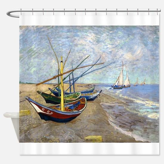 Van Gogh Fishing Boats Shower Curtain