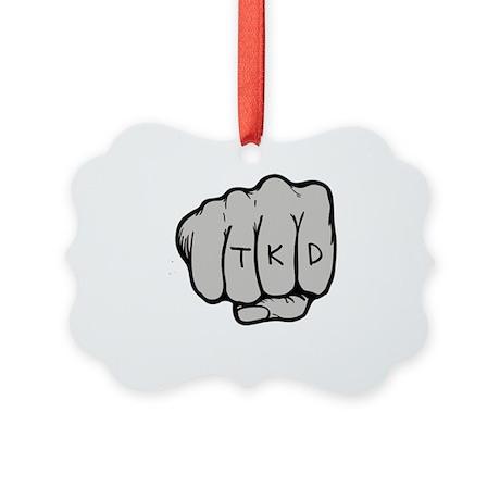 Martial Arts TKD Fist Picture Ornament