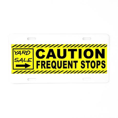 YARD SALE BUMPER Aluminum License Plate