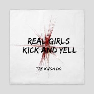 Taekwondo Girls Kick Queen Duvet