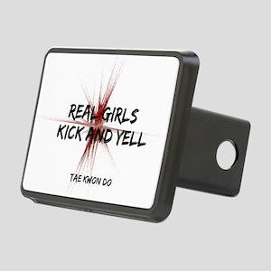 Taekwondo Girls Kick Rectangular Hitch Cover