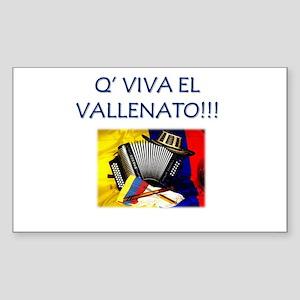 VALLENATO Sticker (Rectangle)