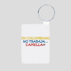 CAMELLA, COLOMBIANO, TRABAJO, WORK Aluminum Photo