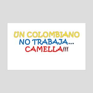CAMELLA, COLOMBIANO, TRABAJO, WORK 35x21 Wall Deca