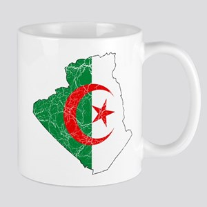 Algeria Flag and Map Cracked Mug