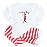 A Girl On The Go Baby Pajamas - Red Stripe