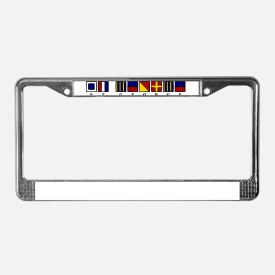 St. George License Plate Frame
