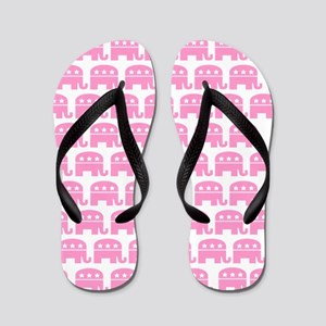 Republican Elephant Pink (Mini) Flip Flops