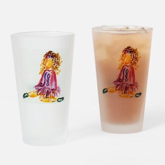 Irish Dancer Drinking Glass