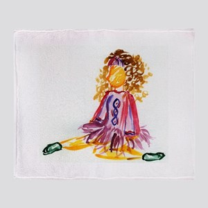 Irish Dancer Throw Blanket