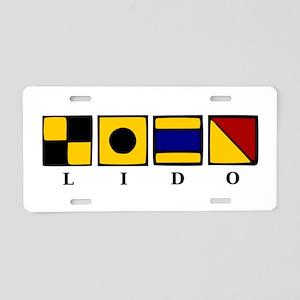 Nautical Lido Aluminum License Plate