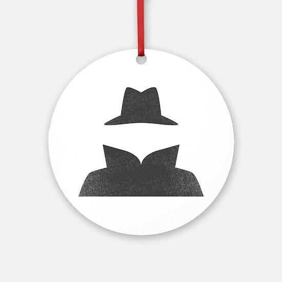 Secret Agent Spry Spy Guy Ornament (Round)